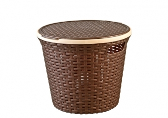 Rattan Round Basket For Multi-Purpose Use (15 lt)